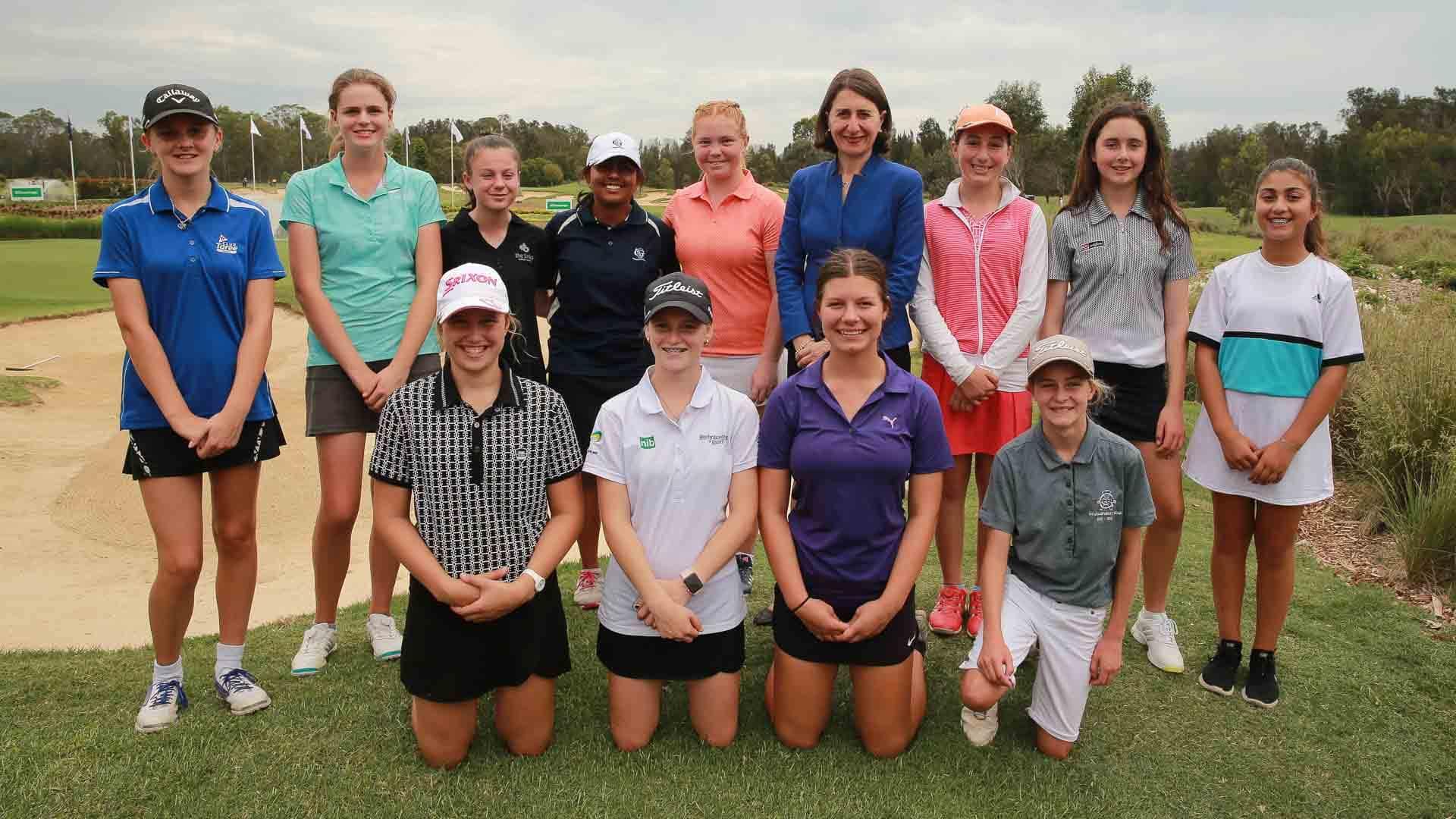 Gladys Berejiklian at the AVJennings NSW Open