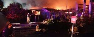 Firefighter battle a blaze at Wentworth Golf Club