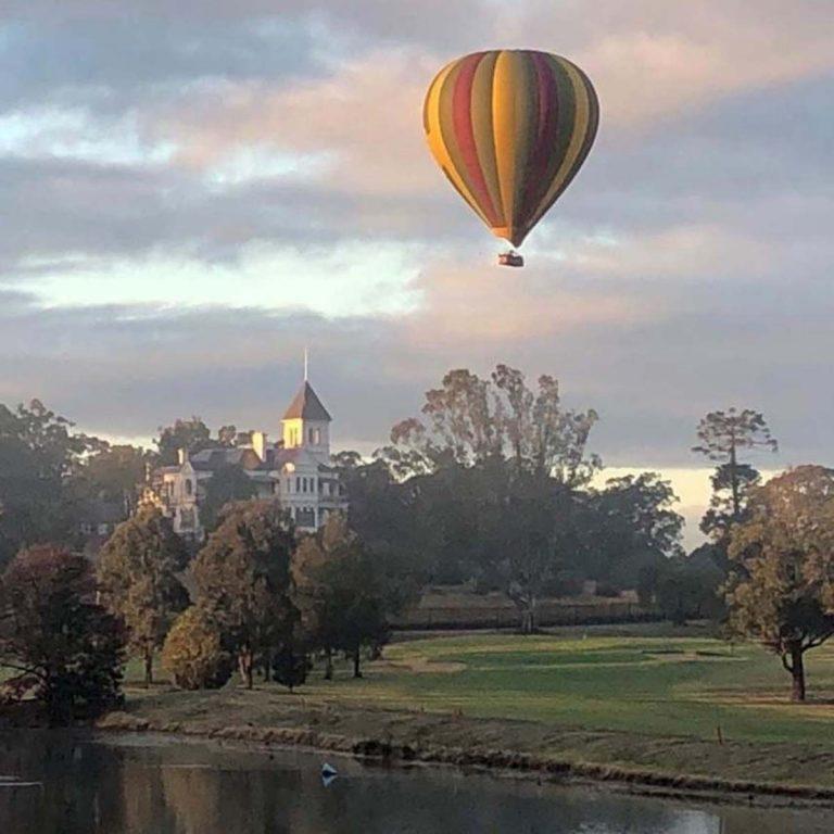 Hot Air Ballon over Camden Golf Club