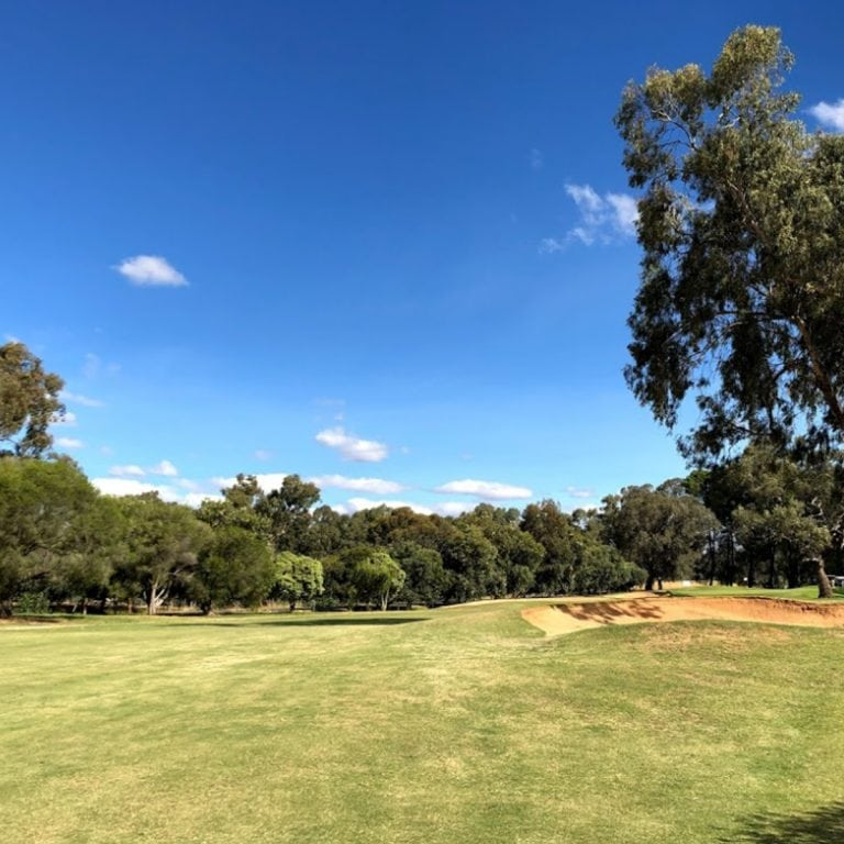 Images of the golf course at Corowa Golf Club
