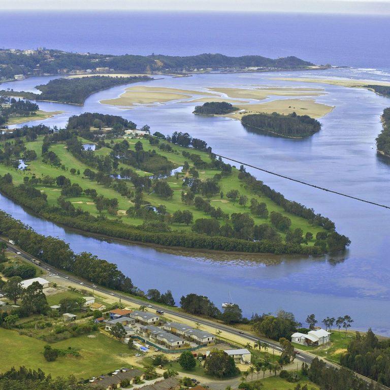 Nambucca Heads Island Golf Club drone view
