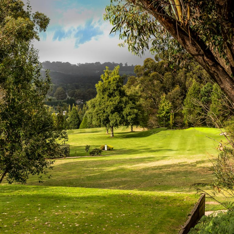 Beautiful scenery of the golf course at Highlands Golf Club