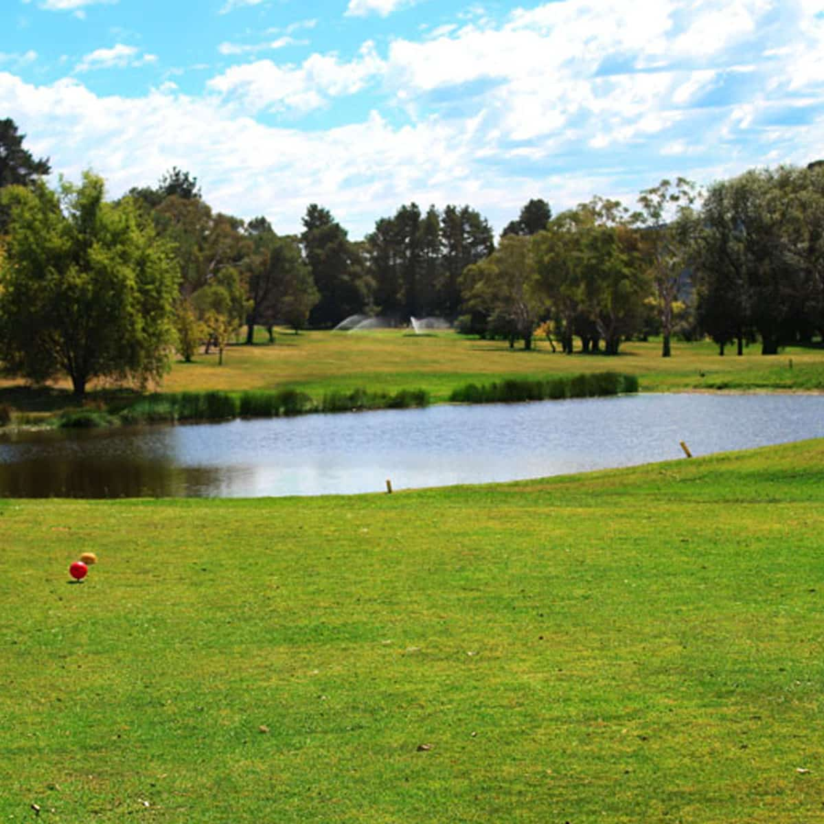 Scenery of the golf course at Lithgow Golf Club