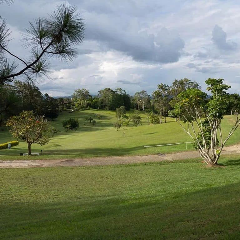 Scenery of the golf course at Macksville Country Club