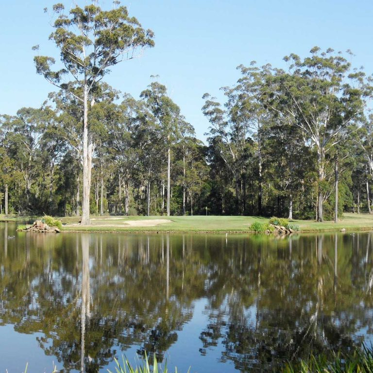 views of the course at The spectacular Tallwoods Country Club on the lower north coast of NSW