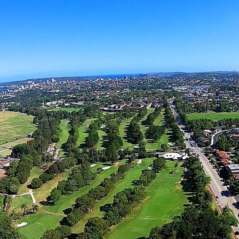 Warringah Golf Club drone view