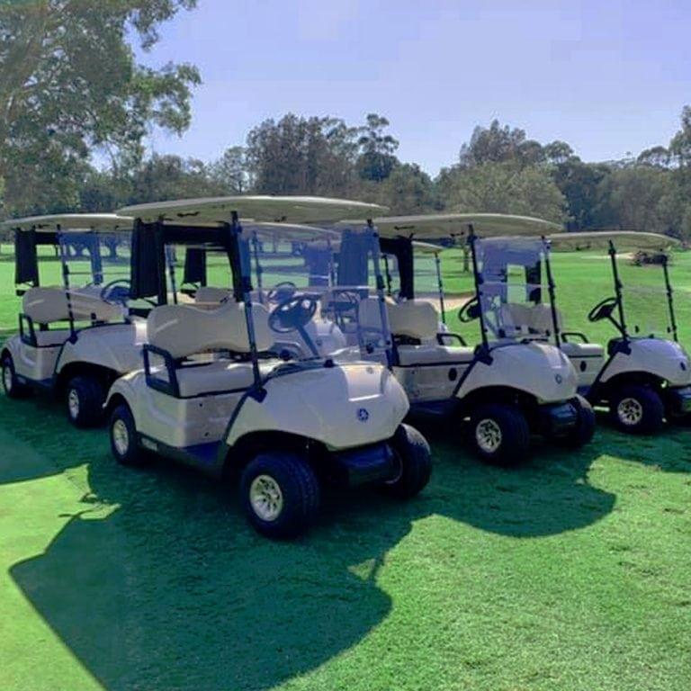 Warringah Golf Club carts