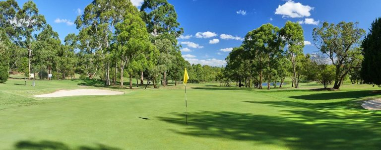 A view of a green at Asquith Golf Club