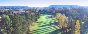 Aerial view of Bowral Golf Club