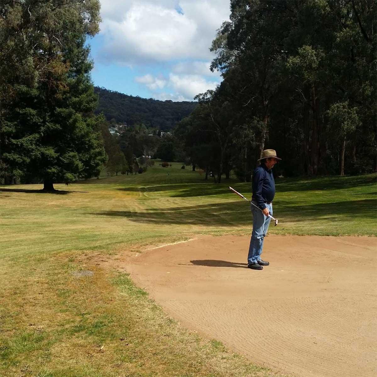 Scenes around the nine hole Batlow Golf Club