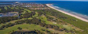 Yamba Golf Club - drone image