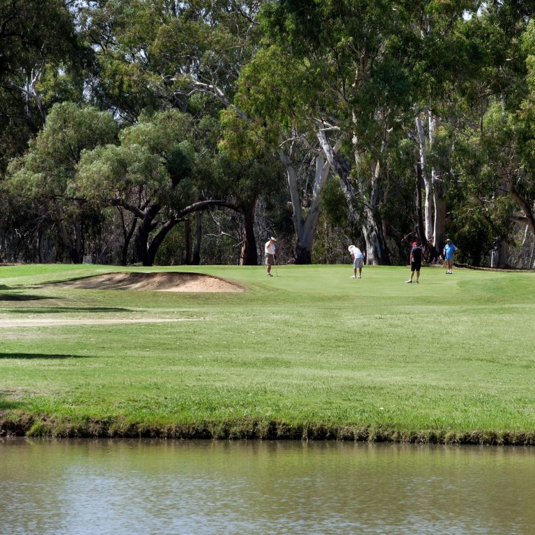 Scenery of the golf course at Deniliquin Golf Club