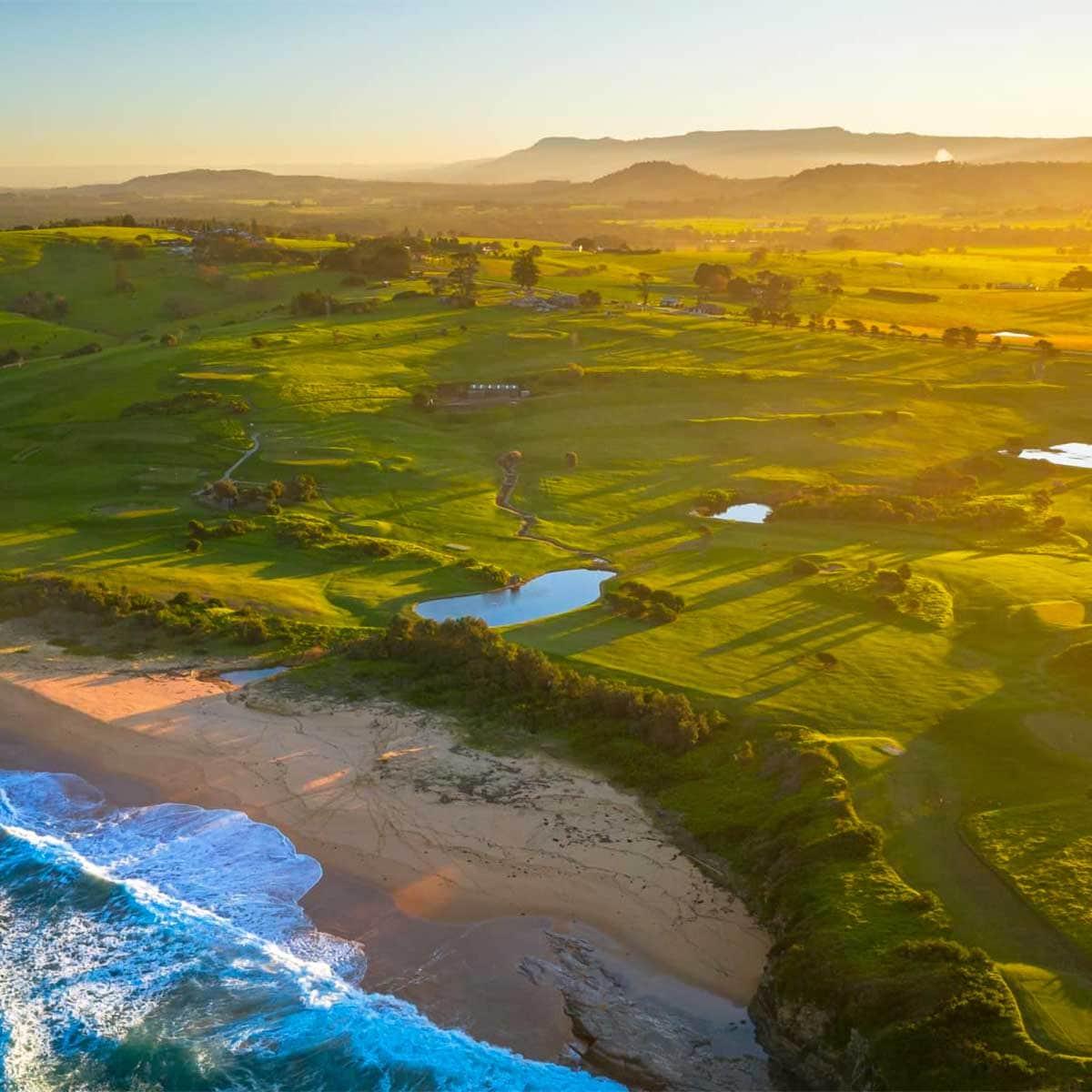 an aerial photo of Gerringong Golf Club