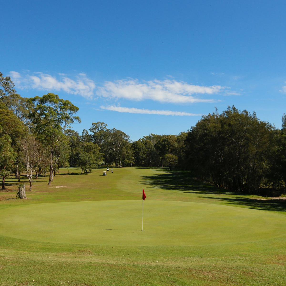 Scenery of the golf course at Grafton Golf Club