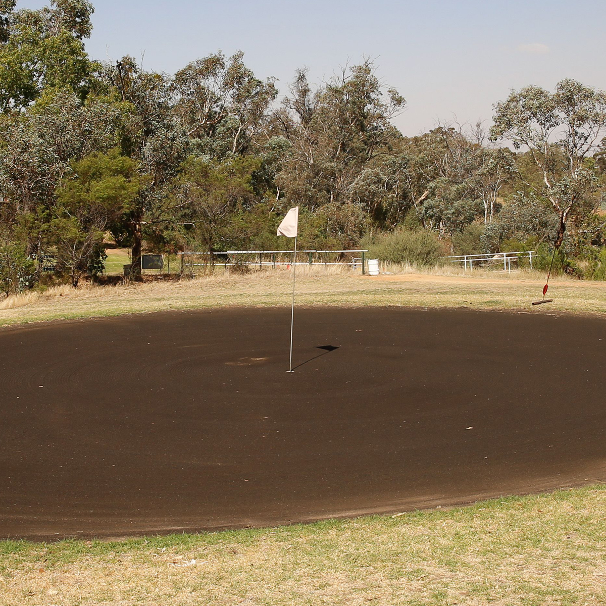 Sand greens at Grenfell Golf Club