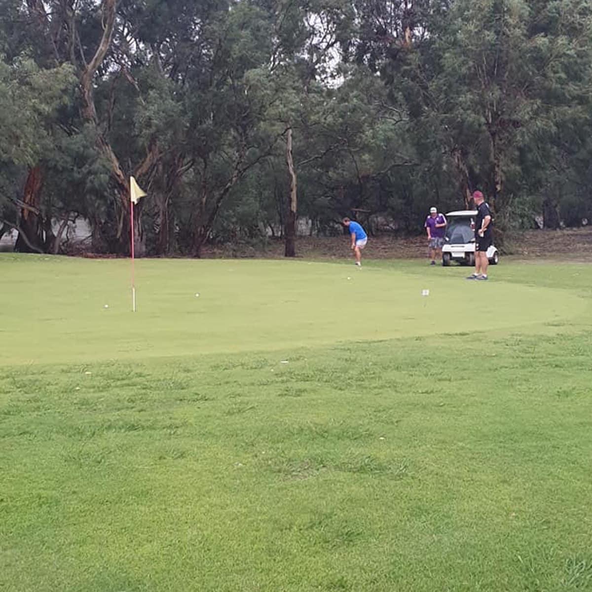 Putting green at Jerilderie Golf Club