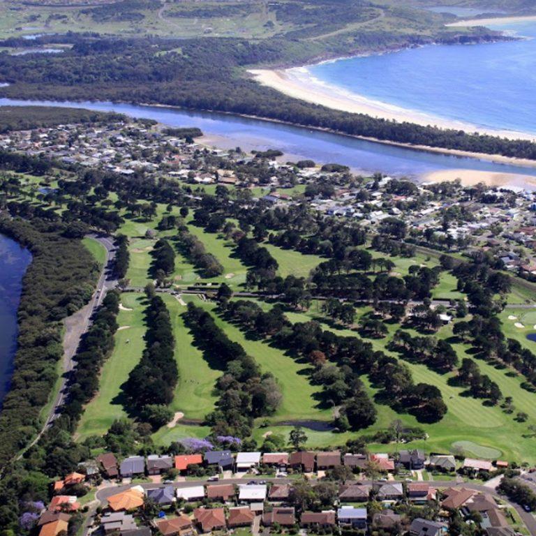 Views of the golf course at Kiama Golf Club