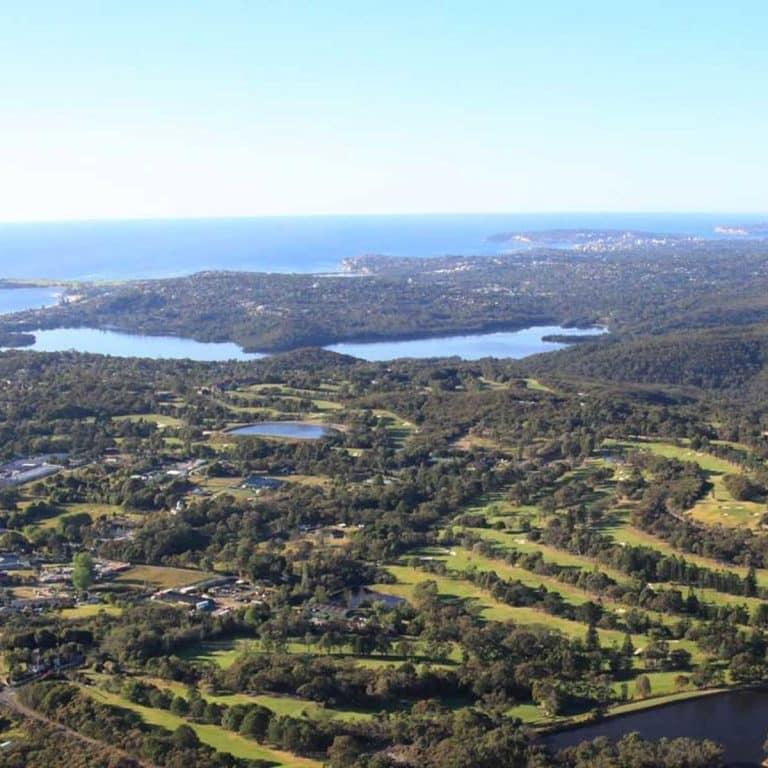 Monash Country Club drone view