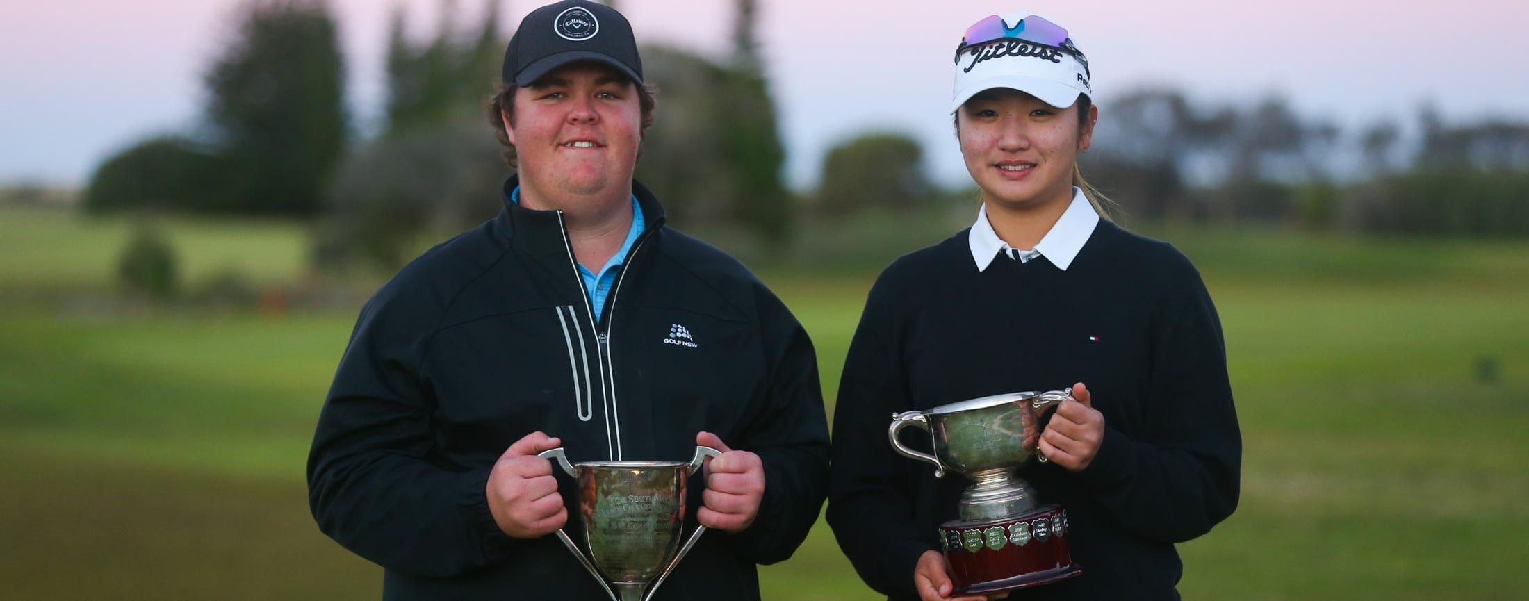Corey Lamb Hye Park with NSW Jnr Trophies