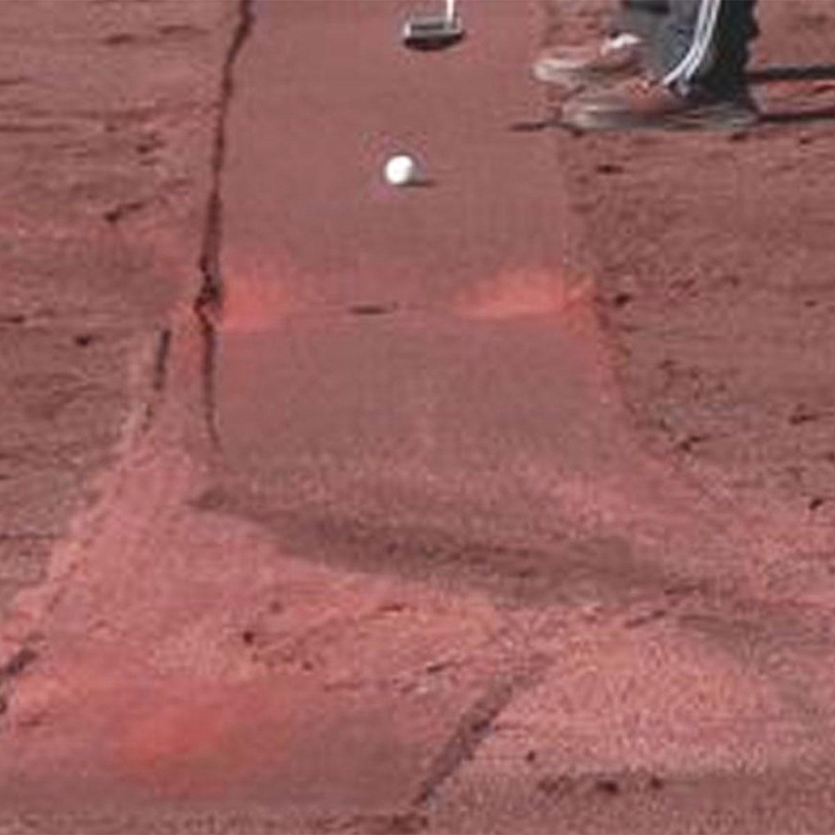 Wanaaring Golf Club putting in sand