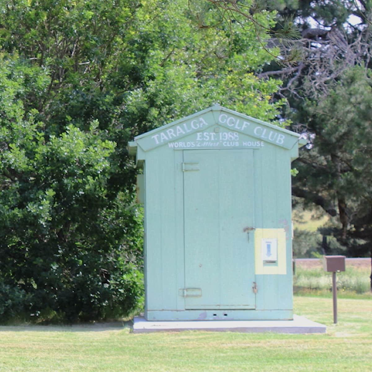 Taralga Golf Club - World's tiniest clubhouse