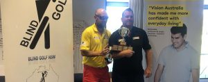 Glenn Niciejewski and his caddy at the Presentation