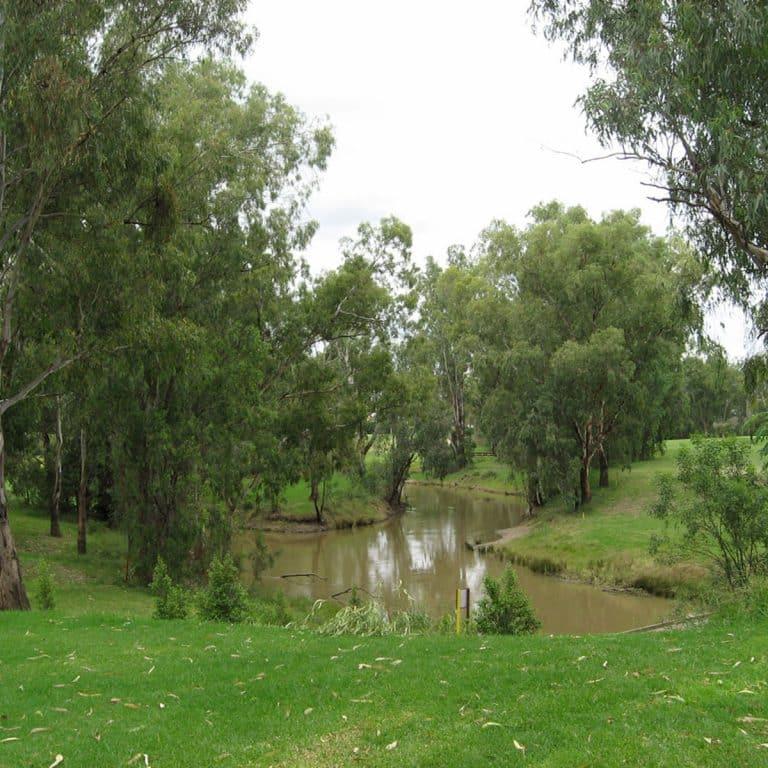 Moree Golf Club creek