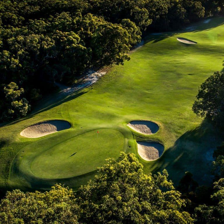 Newcastle Golf Club aerial