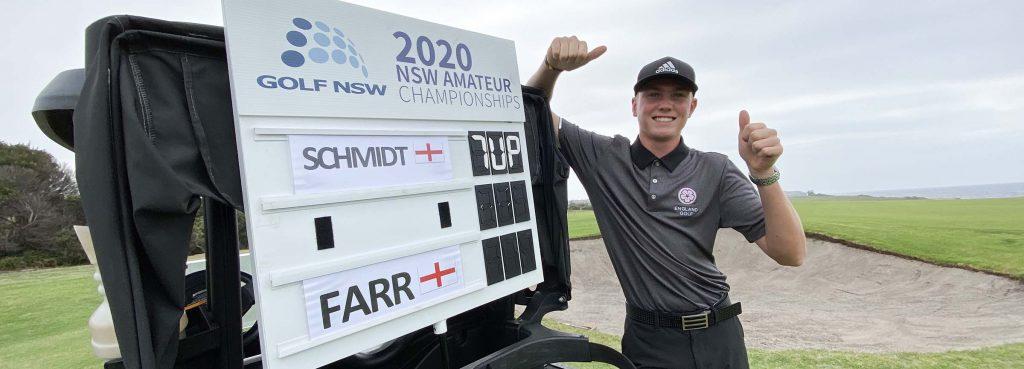2020 NSW Amateur Champion Ben Schmidt