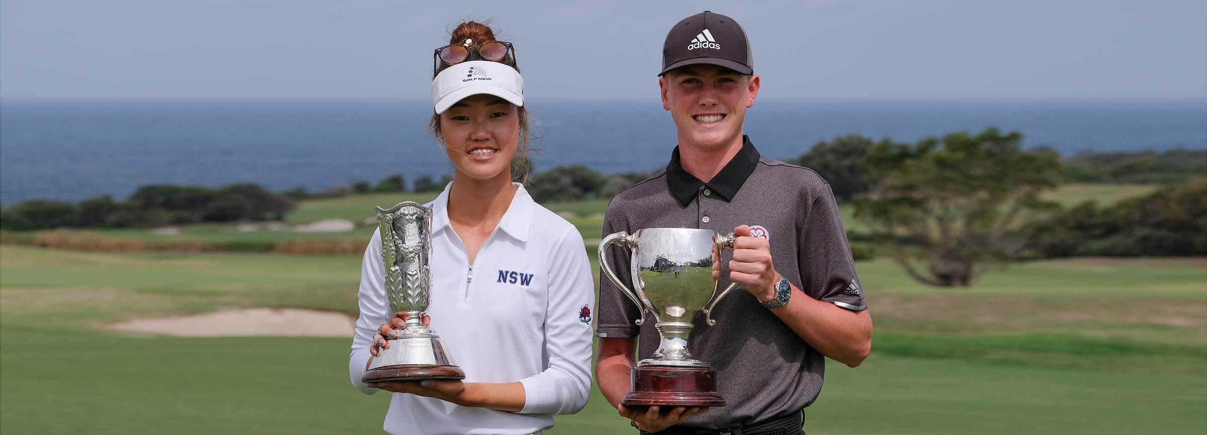 Grace Kim and Ben Schmidt - 202 NSW Amateur Champions