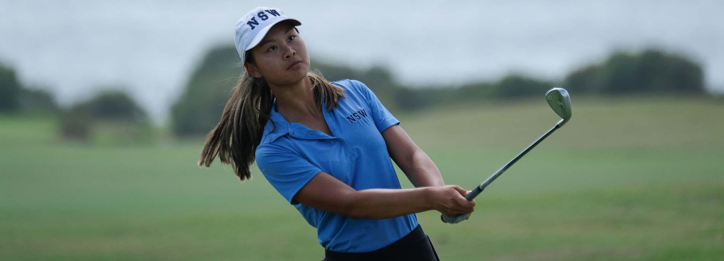 Belinda Ji in action during the 2020 NSW Amateur