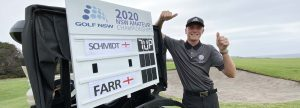 Benjamin Schmidt gives thumbs up after winning 2020 NSW Amateur