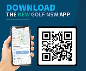 advert for Golf NSW phone App