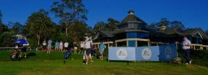 golfer teeing off in the 2020 Major Pennant Final