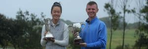 2021 NSW Amateur Champions Grace Kim and Andrew Ricahrds